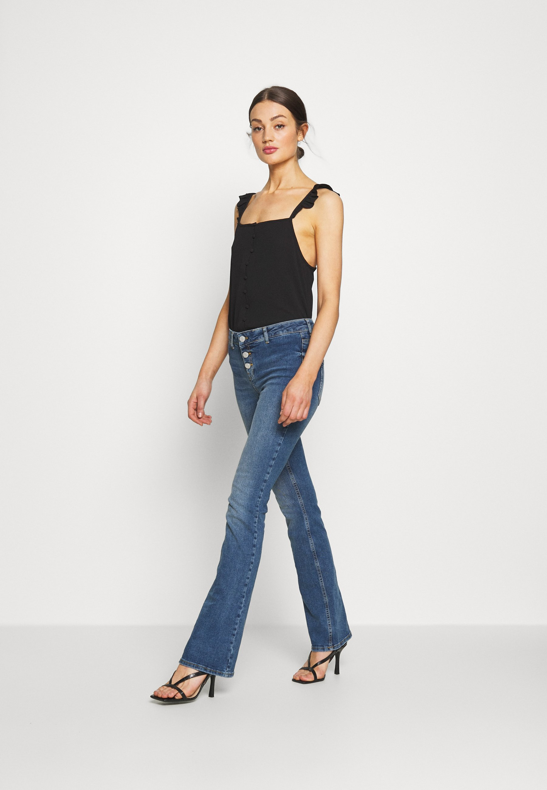 Noisy May NMMARLI BOOTCUT  - Jeansy Bootcut - medium blue denim