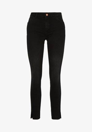 NMKIMMY NW SKINNY SLIT - Vaqueros pitillo - black denim