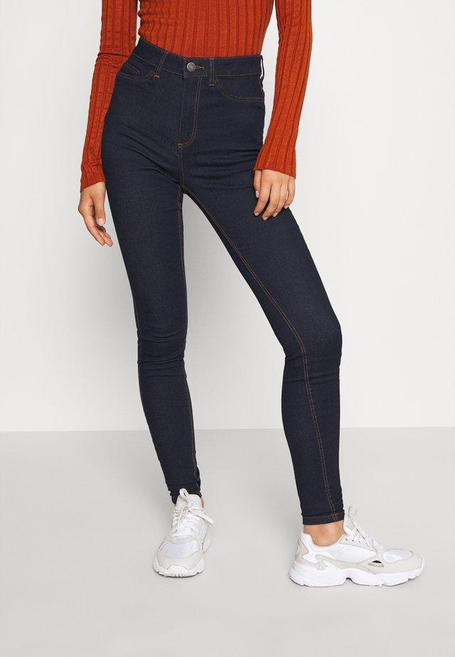 NMCALLIE  - Jeans Skinny Fit - dark-blue denim