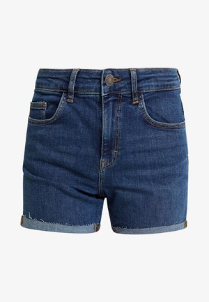 NMBE LEXI - Farkkushortsit - dark blue denim