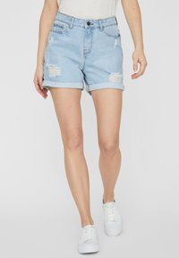 Noisy May - Jeansshorts - light blue denim - 0