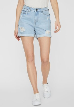 Farkkushortsit - light blue denim