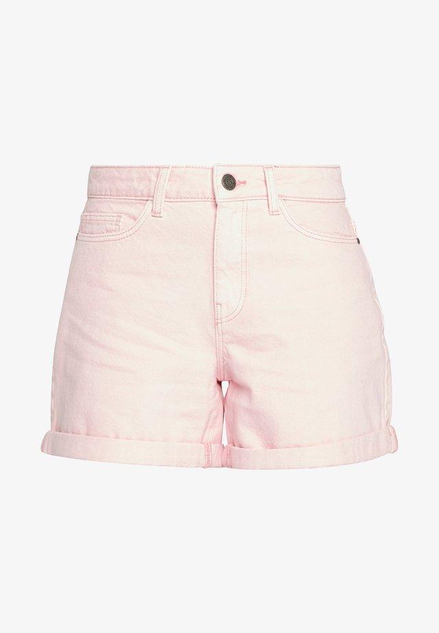 NMSMILEY - Denim shorts - silver pink