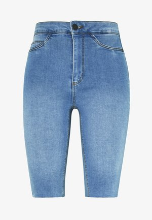 NMBE CALLIE - Szorty jeansowe - light blue denim