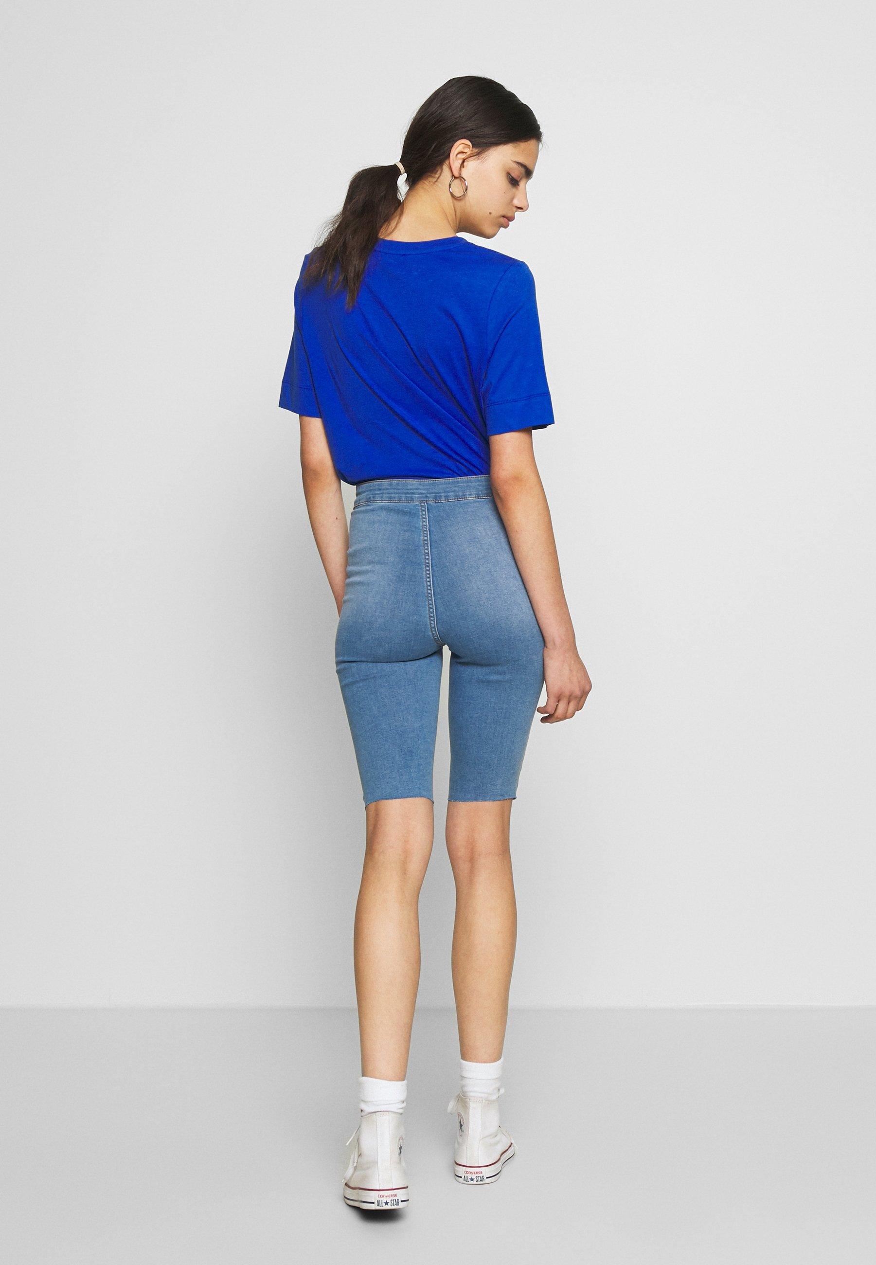 Noisy May NMBE CALLIE - Szorty jeansowe - light blue denim