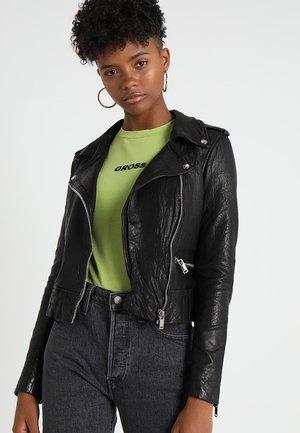 NMNORA JACKET - Leather jacket - black