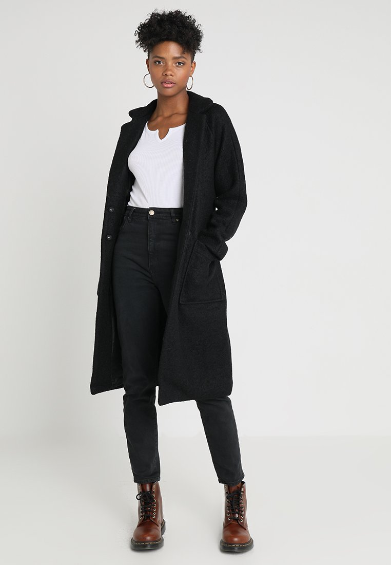 Noisy May - NMZOE  - Classic coat - black