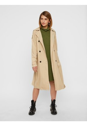 REGULAR FIT - Trenchcoat - brown