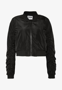 Noisy May - NMSADIE CROP JACKET - Bomberjacka - black - 3