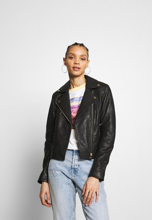 NMDORA JACKET - Leather jacket - black
