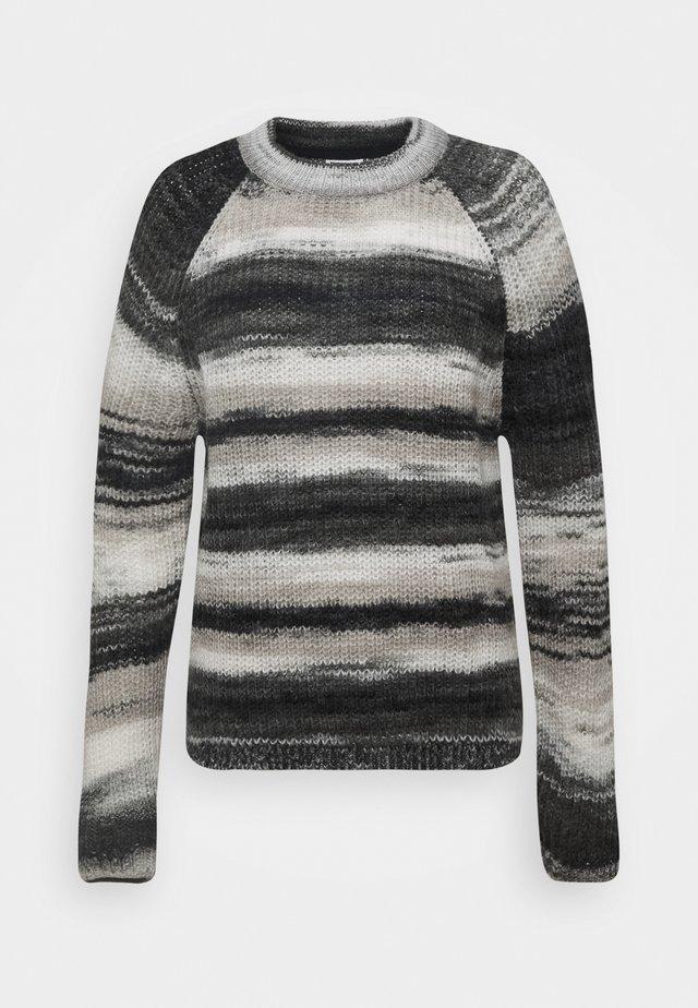 NMLEED O NECK - Jersey de punto - black/asphalt/white