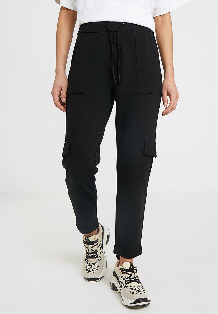 Noisy May Petite - NMPOWER POCKET PANTS   - Bukser - black