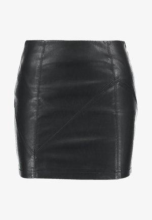 NMREBEL SHORT SKIRT - Mini skirt - black