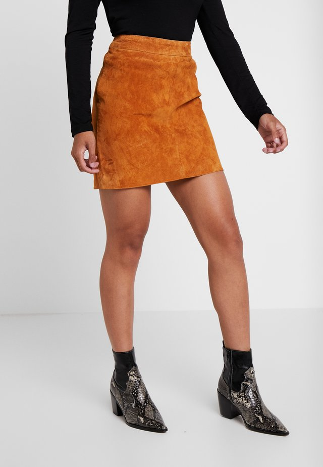 NMWREN SKIRT - Mini skirts  - sudan brown