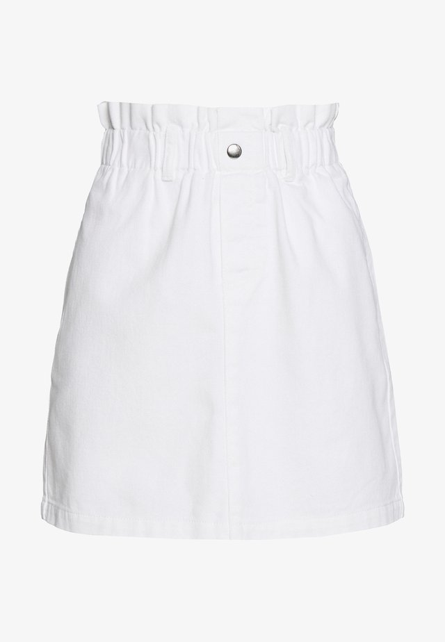 NMJUDO PAPERBACK  SKIRT - Minijupe - bright white