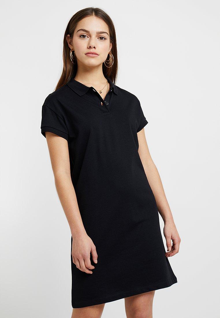Noisy May Petite - NMNOAH POLO DRESS - Jerseyklänning - black