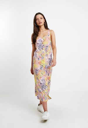 NMSARA BUTTON DRESS - Day dress - sugar swizzle/marble
