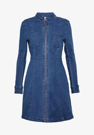 NMLISA ZIP DRESS - Vestito di jeans - medium blue denim