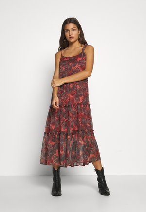 LONG DRESS PETITE - Korte jurk - burnt coral