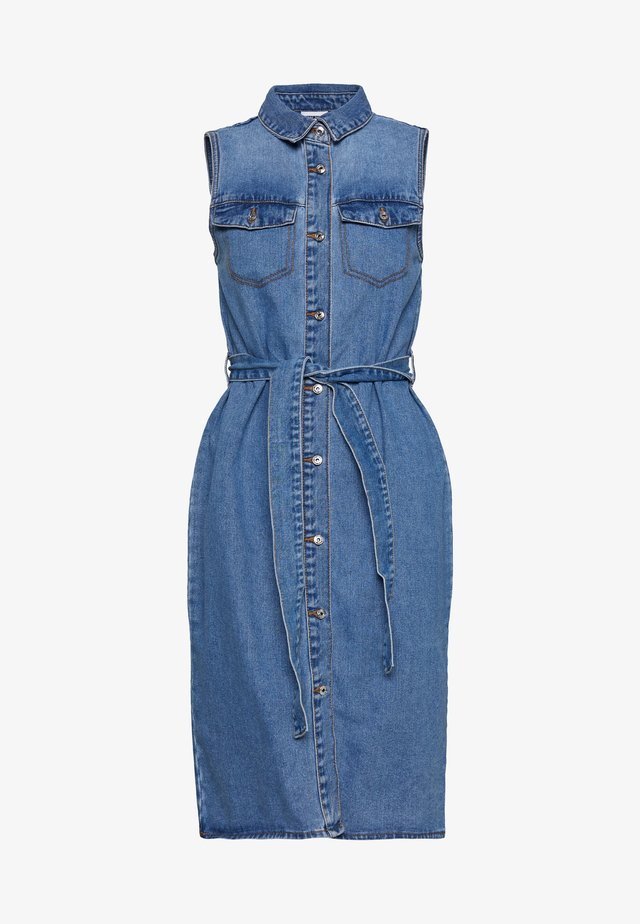 NMMINA BUTTON DRESS - Spijkerjurk - medium blue denim