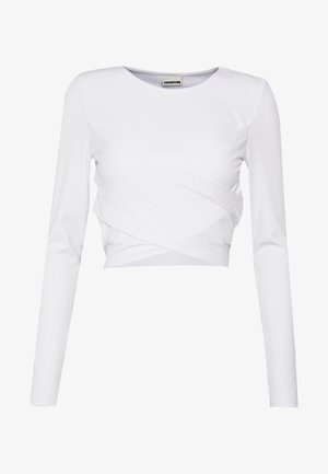 NMPOPPY CROPPED - Langarmshirt - bright white