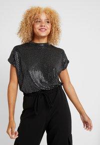 Noisy May Petite - NMNIGHT - T-Shirt print - black - 0