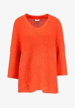 NMVERA V NECK - Pullover - fiery red