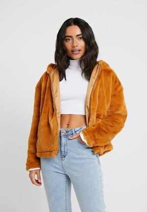 NMTARA JACKET - Winterjas - brown sugar