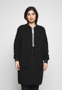Noisy May Petite - NMSNOOP LONG JACKET PETITE - Bomberjacke - black - 0