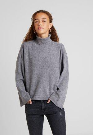 NMSHIP ROLL NECK - Sweter - medium grey melange