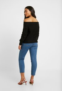 Noisy May Petite - NMPHOEBE OFF SHOULDER - Trui - black - 2