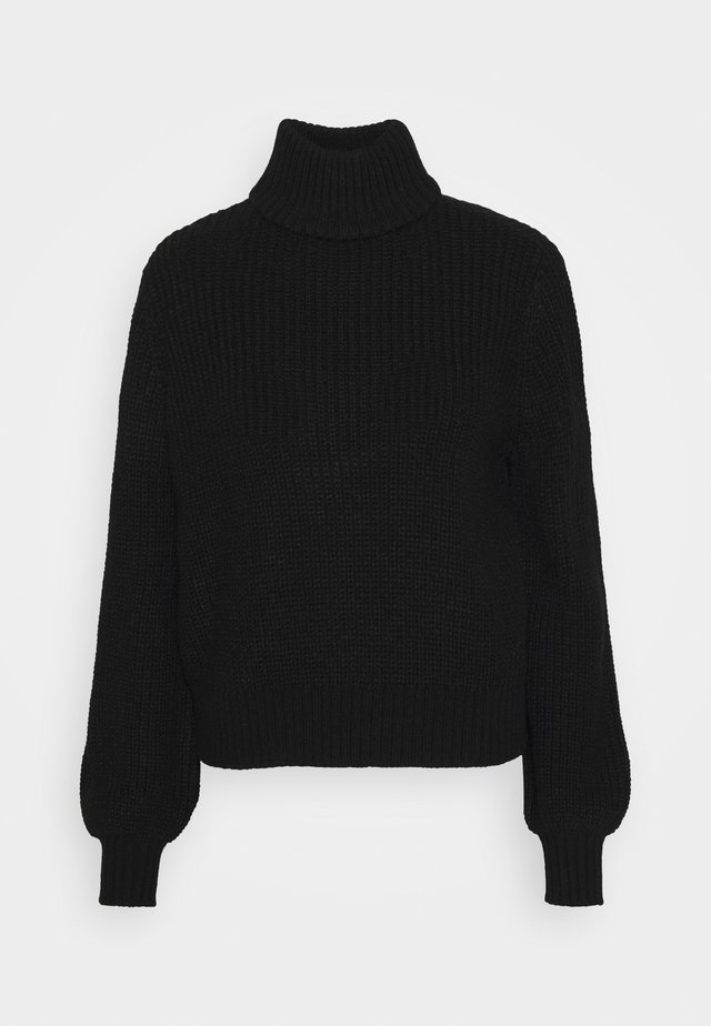 NMTOMMY HIGH NECK  - Strikpullover /Striktrøjer - black