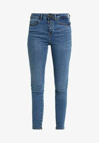 Noisy May Petite - NMLUCY BUTTON - Jeans Skinny Fit - medium blue denim - 4
