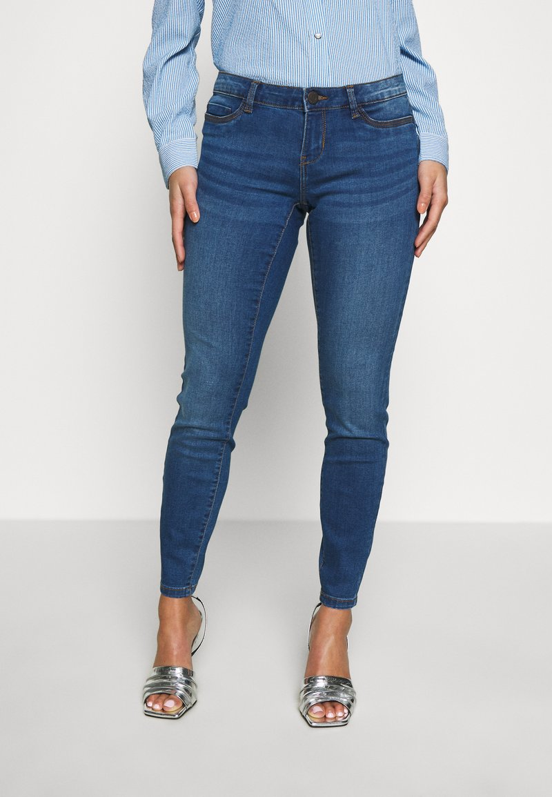 Noisy May Petite - Jeans Skinny Fit - medium blue denim