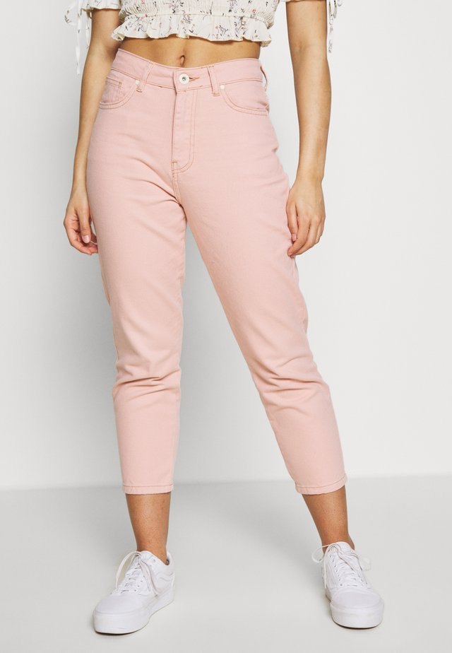 NMISABEL MOM - Straight leg jeans - pink