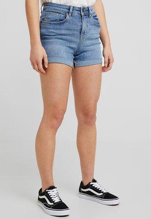 NMBE LEXI - Denim shorts - light blue denim
