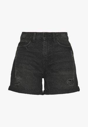 DESTROY SHORTS - Jeansshorts - black