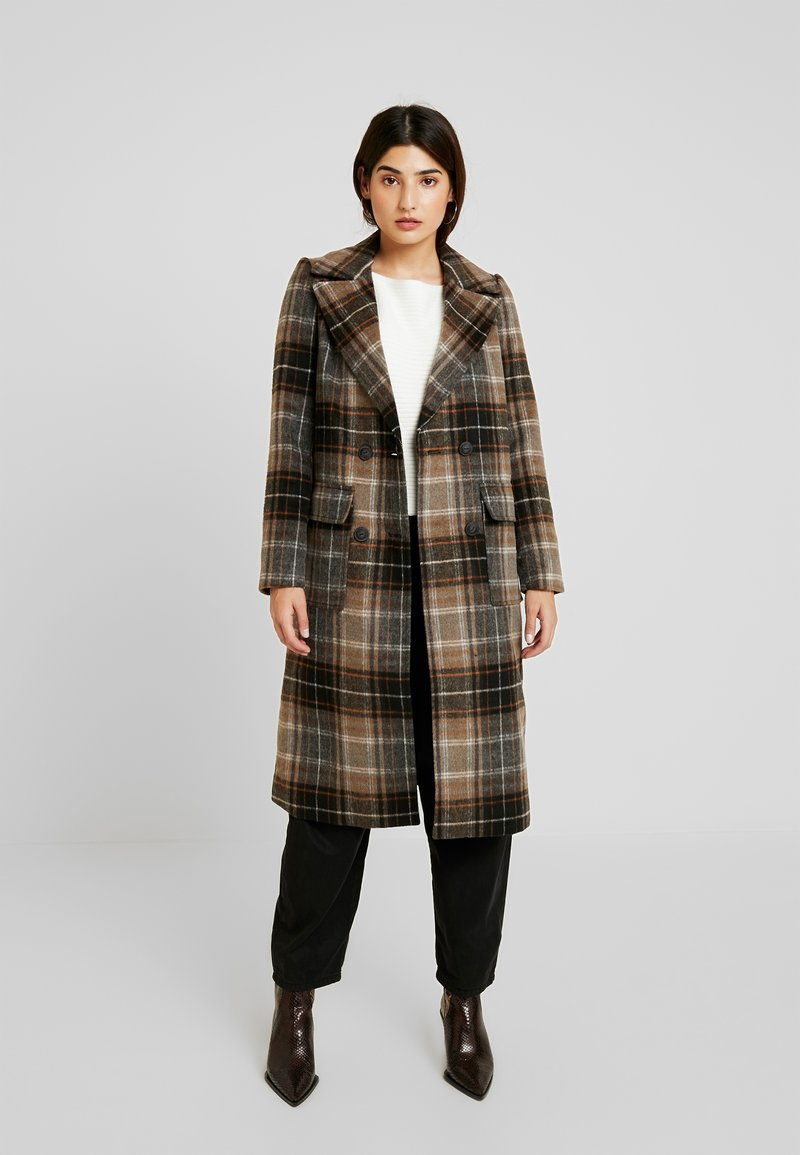 Noisy May Petite - NMCHICK COAT - Frakker / klassisk frakker - brown
