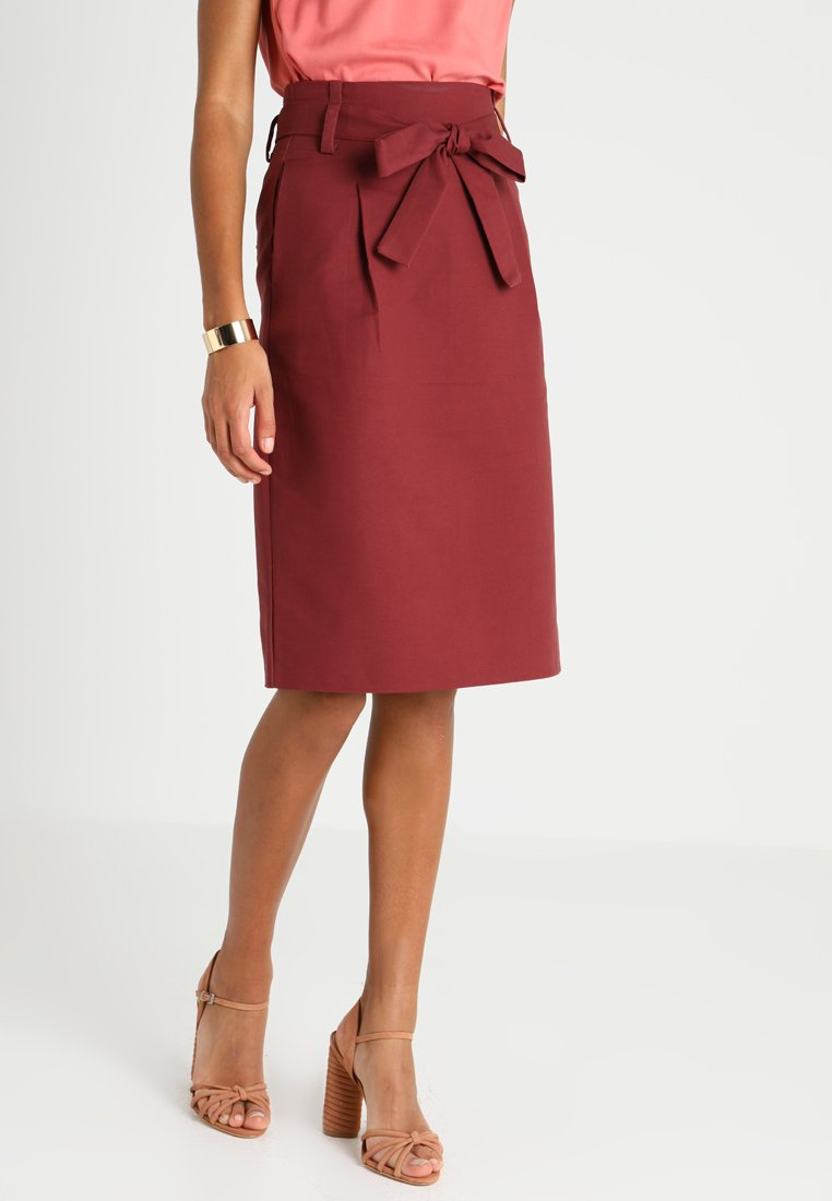 Noa Noa - BASIC STRETCH - Pencil skirt - port