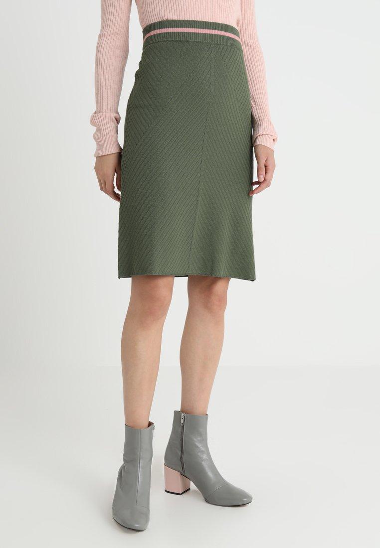 Noa Noa - A-line skirt - agave green