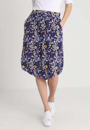 FLORAL MOSS - A-snit nederdel/ A-formede nederdele - blue