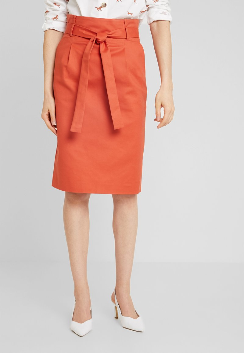 Noa Noa - BASIC - Pencil skirt - mecca orange