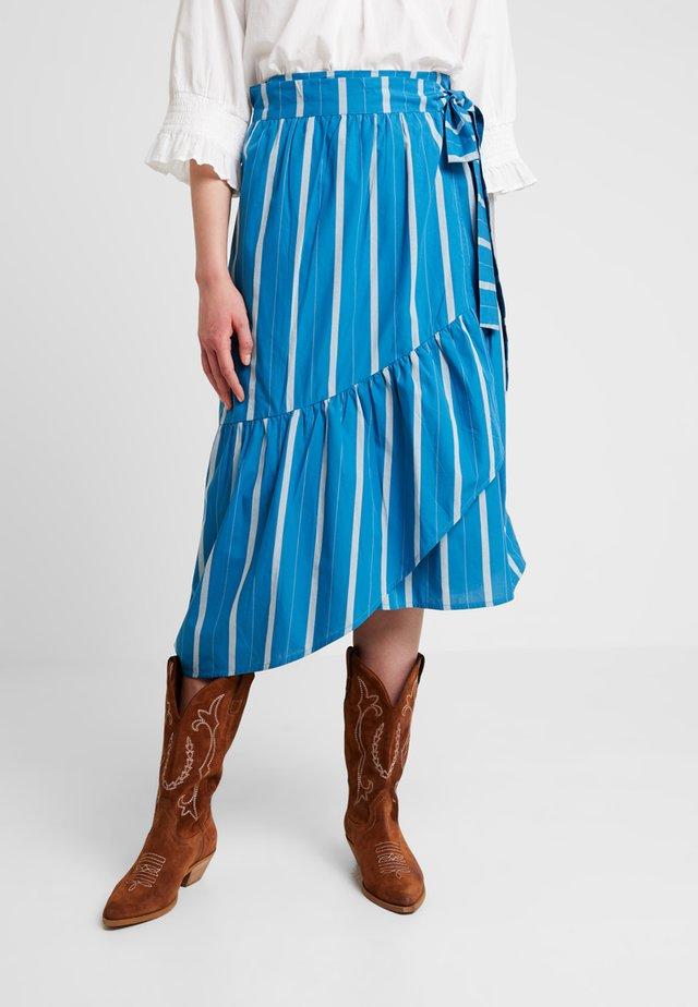 STRIPED - A-line skirt - art blue