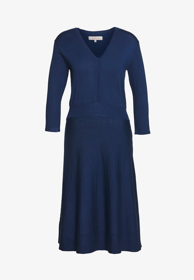 ESSENTIAL - Jumper dress - navy peony