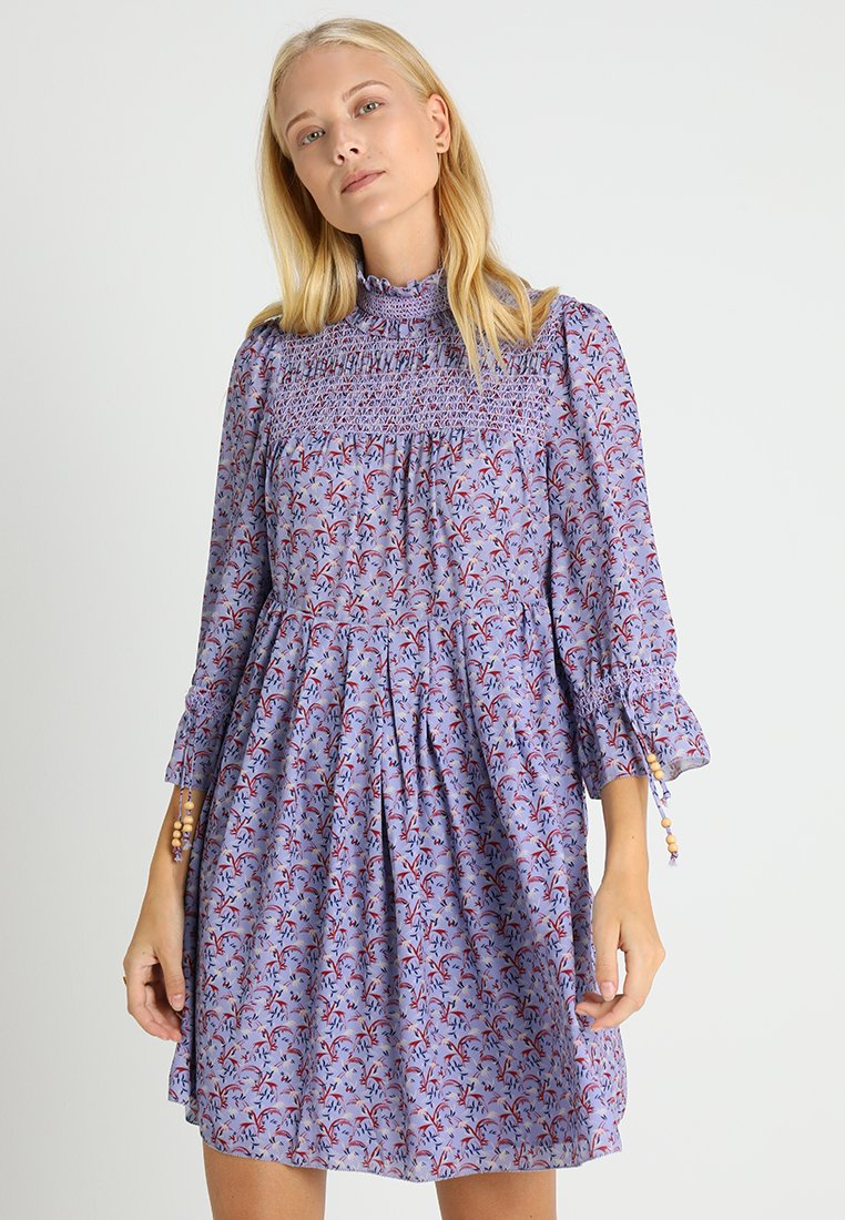 Noa Noa - RECYCLED GEORGETTE - Day dress - blue