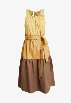 HEAVY POPLIN - Day dress - art yellow