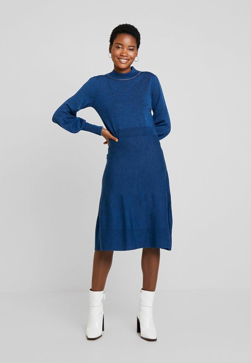 Noa Noa - Strikket kjole - blue melange