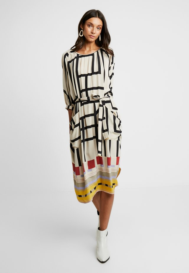GRAPHIC DRAPE - Day dress - off white