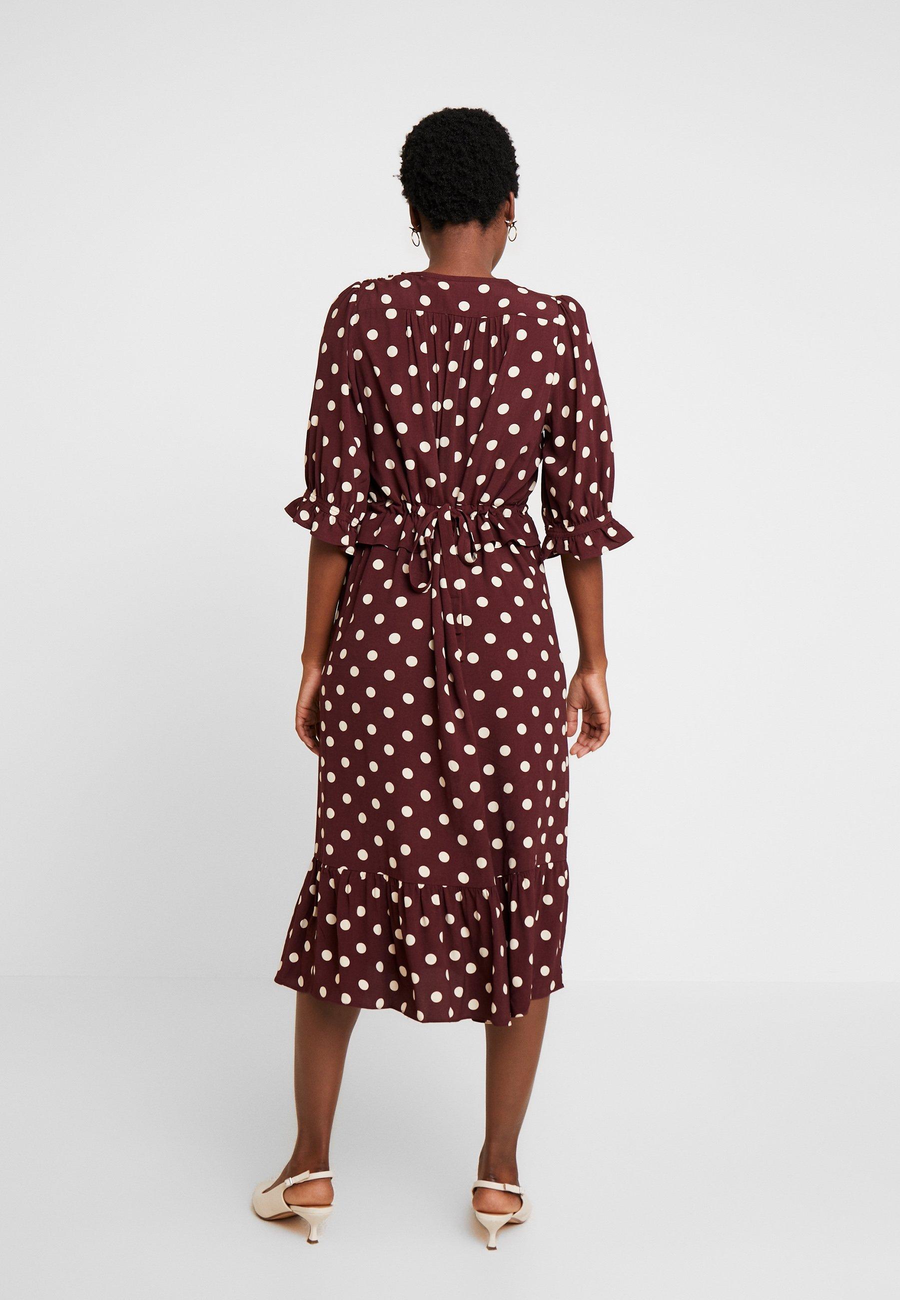Noa Dress Long Sleeve - Day Print Bordeaux