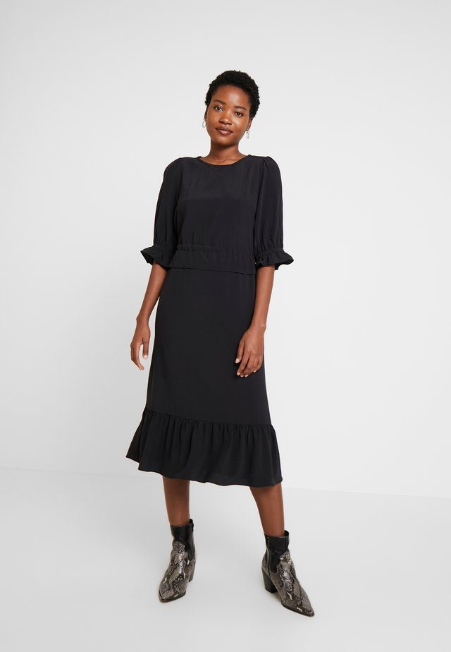 DRESS LONG SLEEVE - Sukienka letnia - black